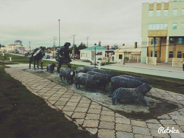 El ovejero Punta Arenas, Chile