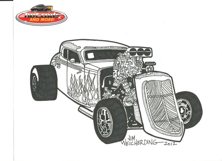 Hot Rod Car Coloring Pages 10044 kids