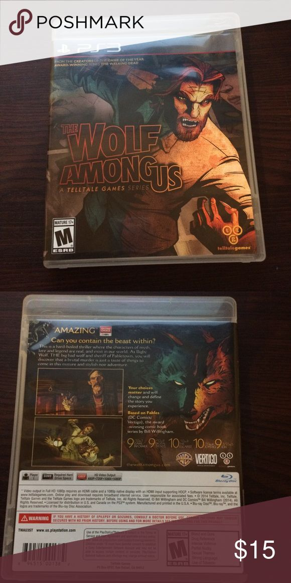 THE WOLF AMONG US PS3 ( PERFECT CONDITION) VIDEO GAME