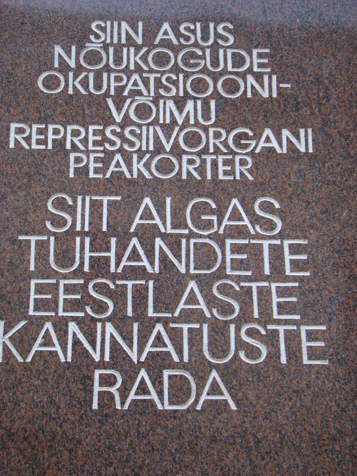 PLACA DE EDIFICIO KGB, TALLIN