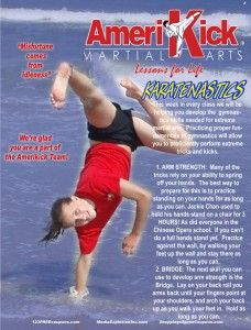 develop the gymnastics skills needed for extreme martial arts