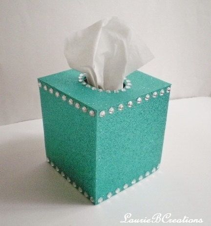 GLITTER & BLING Tissue Box Covers in Sparkling Colors by LaurieBCreations