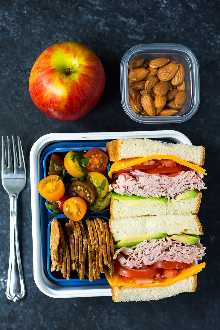 Easy and so good! A weekday lunch never looked so delicious with our simple Bento Box Ham Sandwich!