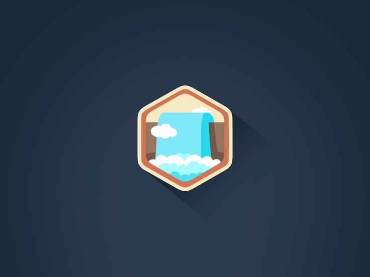 Waterfall motion graphic design - animated vector icon gifs