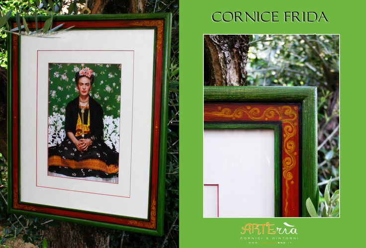 Cornice Frida, dipinta a mano.  Frida's frame, hand made.