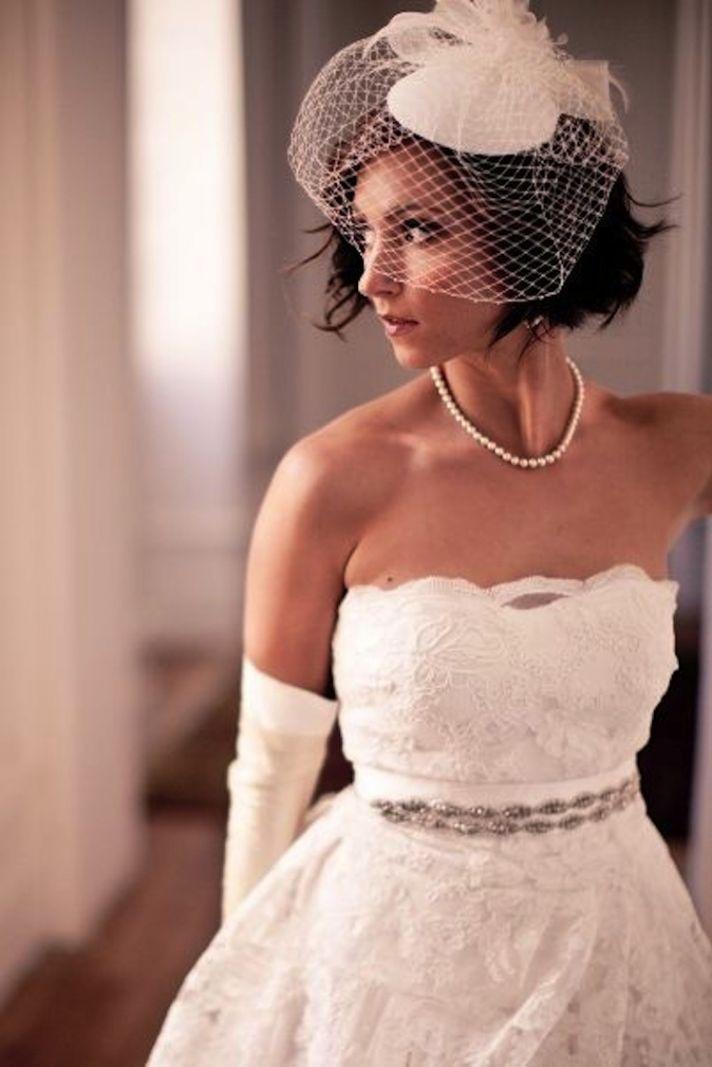 Beautiful Birdcage Bridal Veils