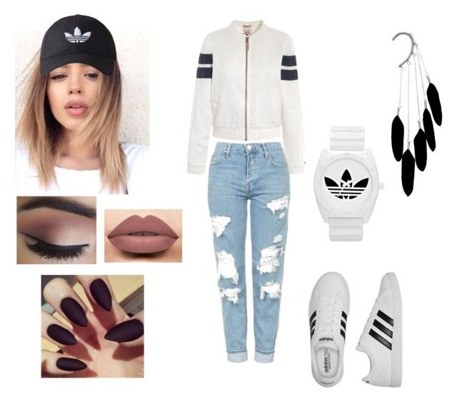 """""""Adidas rep """" by georgia-rose22 on Polyvore featuring Tommy Hilfiger, adidas Originals, LASplash, adidas and Topshop"""