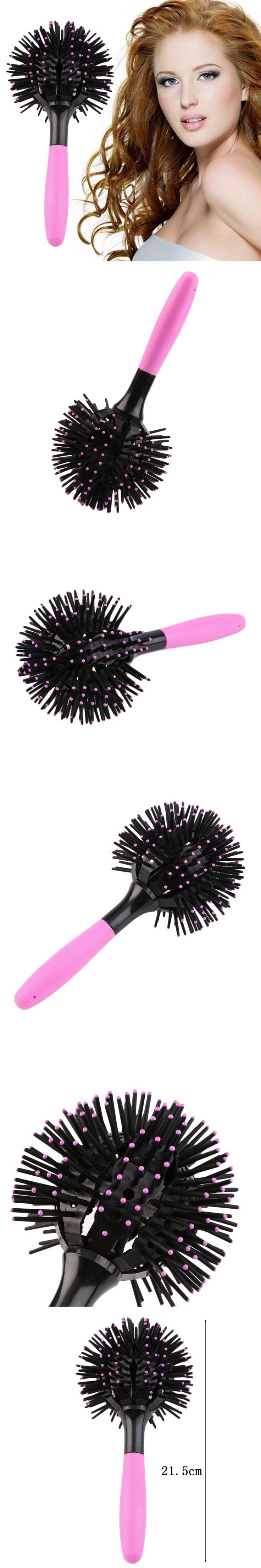 3D Round Hair Brush Hair Comb Salon make up 360 degree Ball Hair Care Styling Tools Magic Detangling Hairbrush Heat Resistant