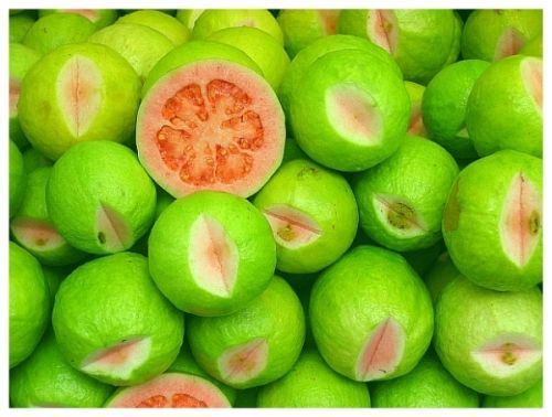 Guavas-- another treat I enjoyed in Nigeria so long ago. I hope they are in season in July.