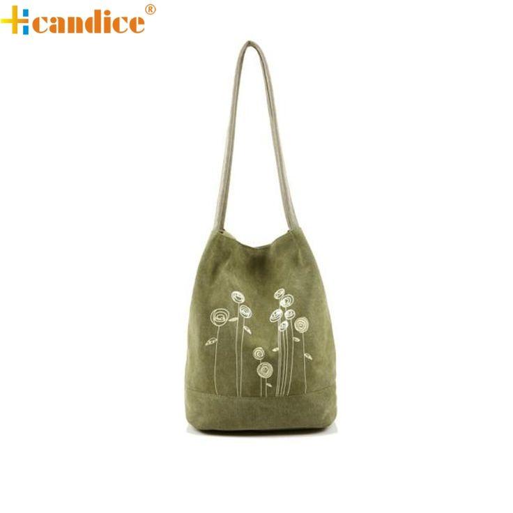 Hcandice Best Gift Shoulder Bag Canvas Women Handbags Bucket Ladies Casual Floral Tote Bag a22