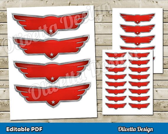 Disney Planes Printable Wings Editable PDF by OlivettaDesign