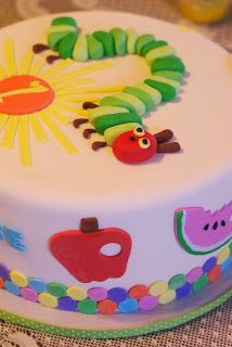 Very Hungry Caterpillar Cake for Twins