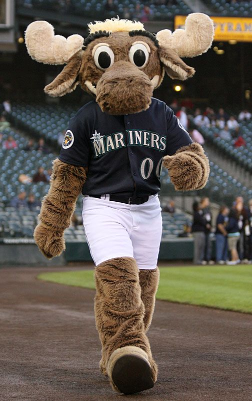 Spring time always brings the Seattle Mariners mascot,the Moose. Along with him the Seattle Mariners