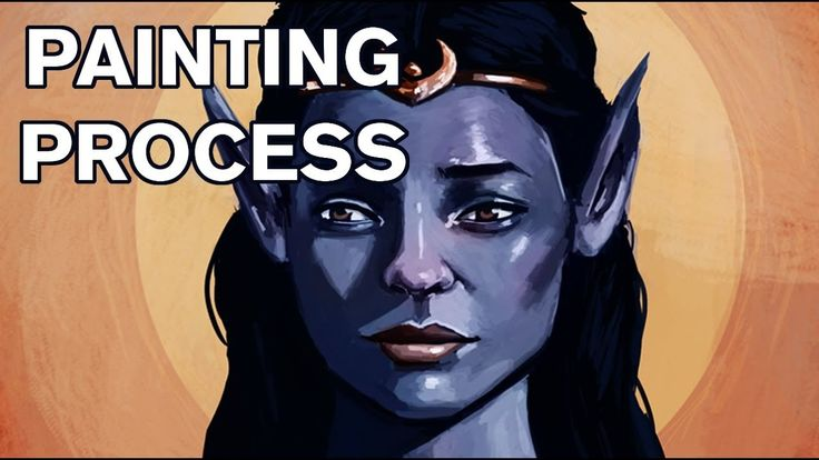 Painting an Elf Queen - Painting Process  #art #painting #drawing #illustration #youtube #video #cool #elf #blue