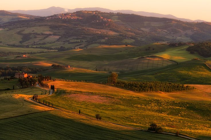 """Terrapille - Terrapille farmhouse is the place where the last scene of """"Gladiator"""" was made. Here at sunset with the hills nearby painted with warm light."""