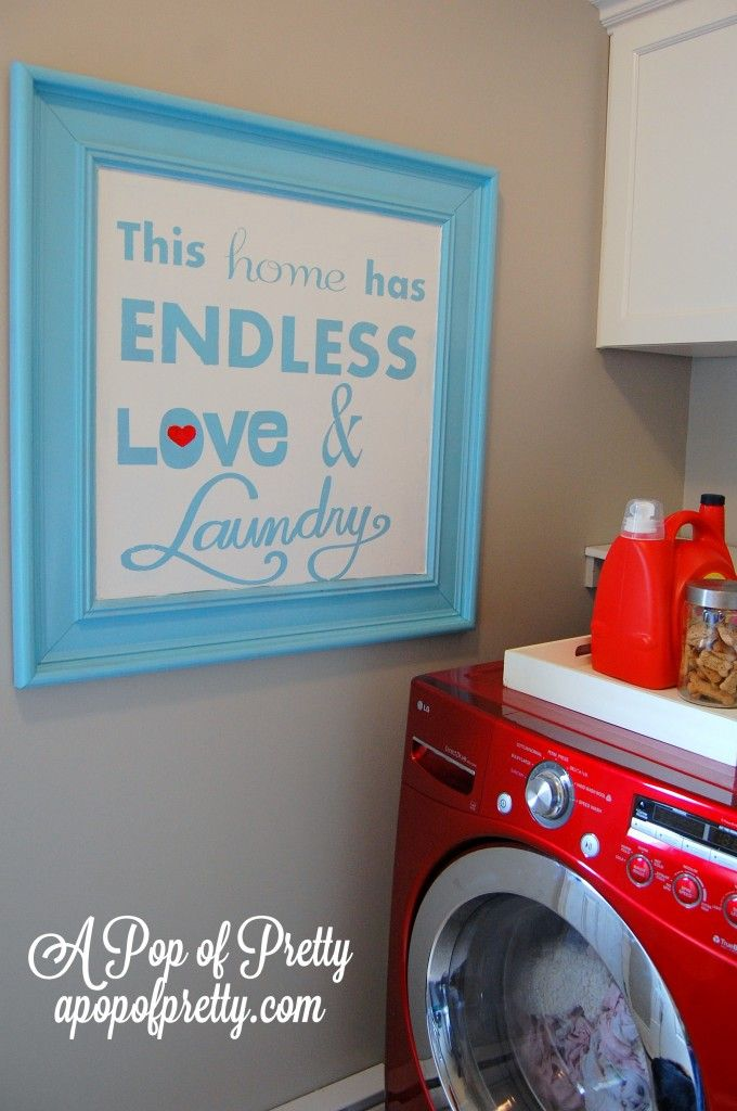 "DIY Laundry Room Sign Tutorial: ""Endless Love & Laundry""(+ Free Printable!)"