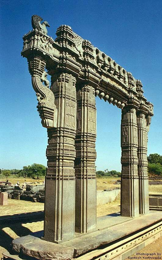 Kakatiya dynasty Kirti Toran made of hard rock at Warangal fort