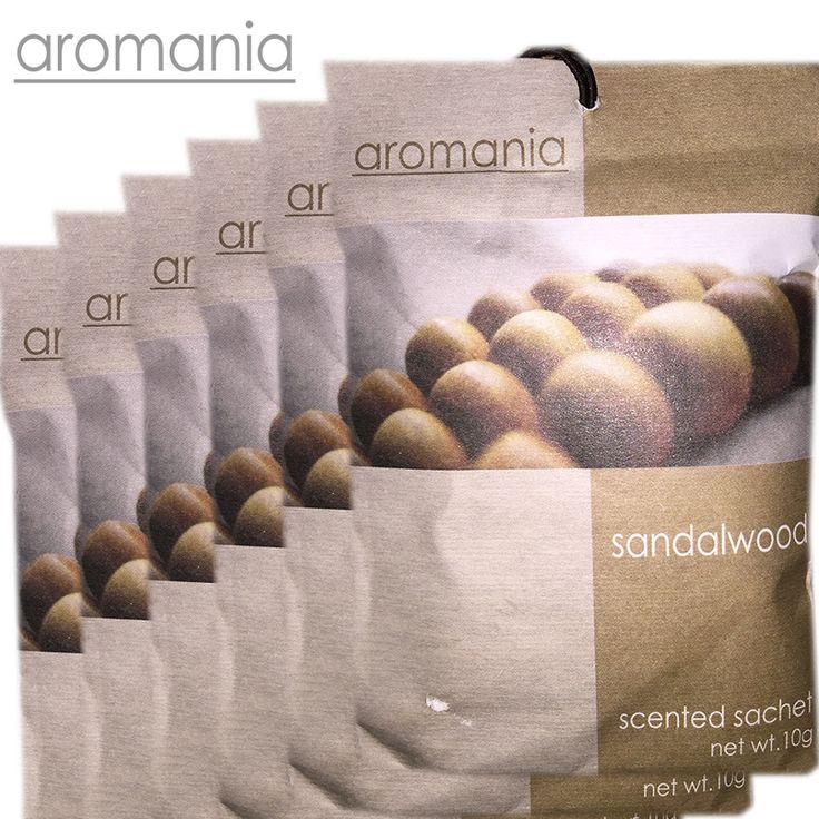 6PCS/lot Aromania Fresh Sandalwood Scented Sachet Fragrance Drawer Sachets Bag For Bedroom Car Flavor Fragrances Indian
