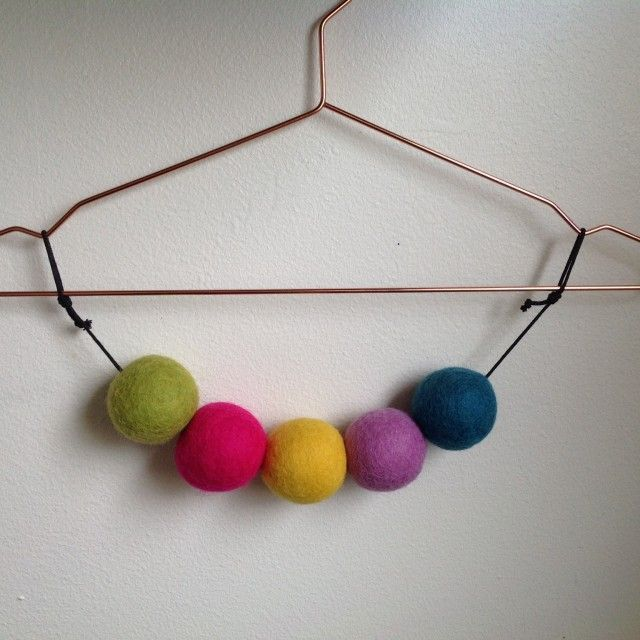 Pushchair accessorie-multi coloured by Rebecca Dahlin WoolDesign #nordicdesigncollective #rebeccadahlinwooldesign #pushchair #accessorie #kids #children #babies #coloures #balls #hanger