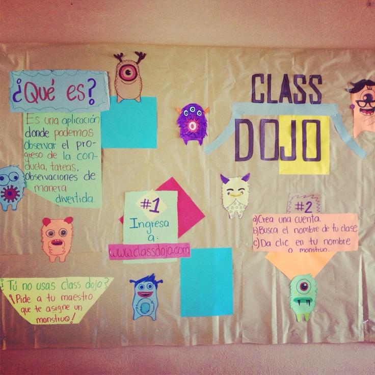 Peri dico mural explicando el uso de la app class dojo for El periodico mural y sus secciones