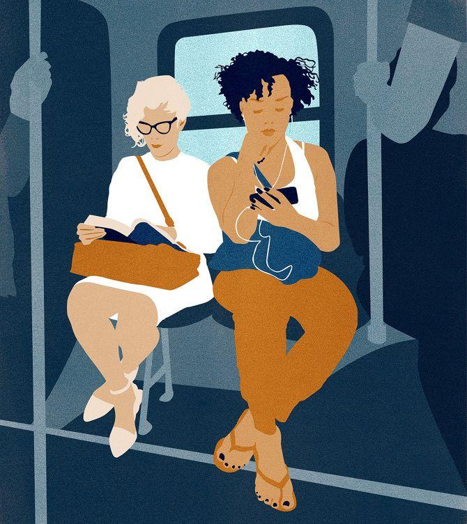 Bus, illustration by Amy DeVoogd