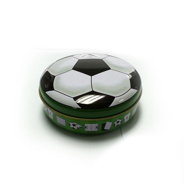 football printed tin box for chocolate