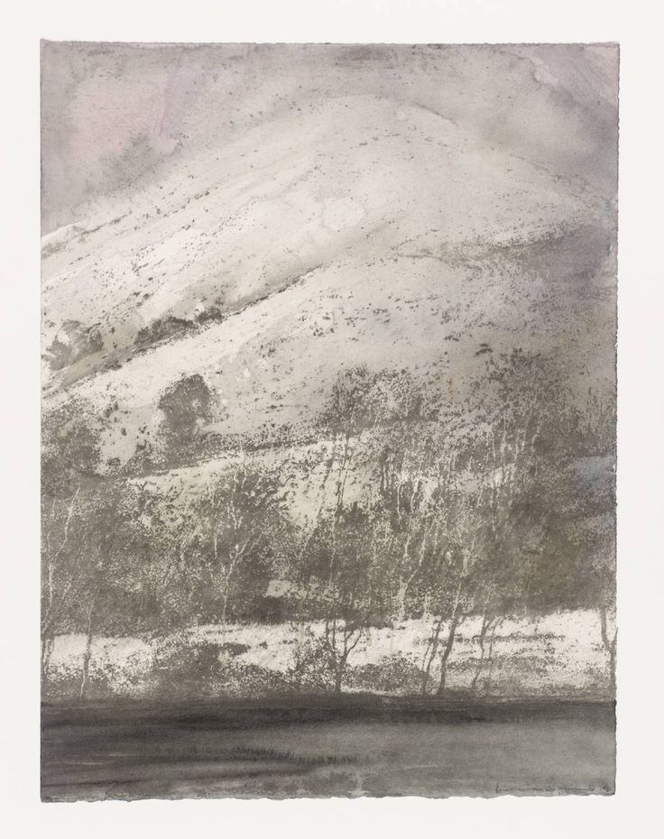 Norman Ackroyd 'Cartmel Fell', 1996  etching and watercolour © Norman Ackroyd