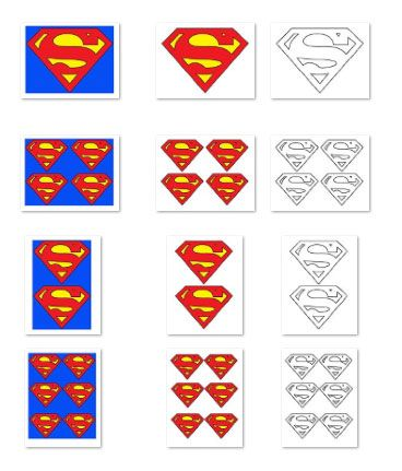 In This Large Printable Superman Logo Download Youll Get Three Versions A Colored Blank Ou