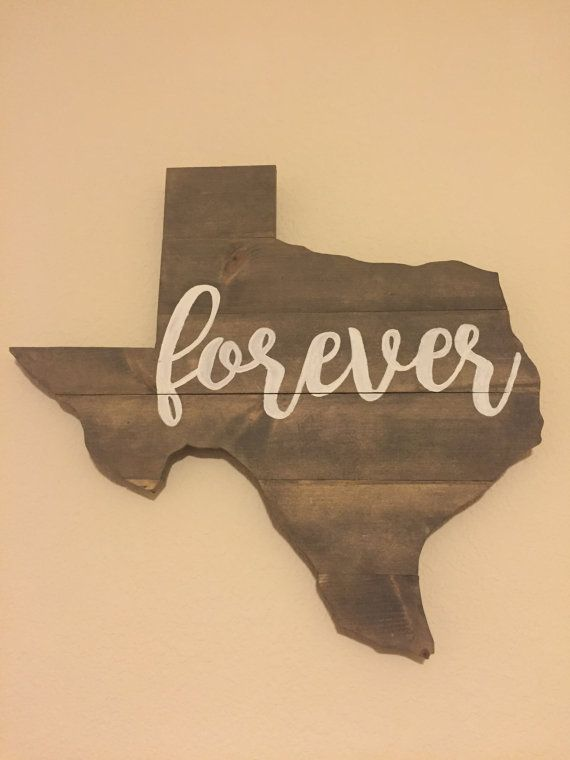Texas Forever Wall Art  Rustic Texas Decor  by WeatheredWolfRustic