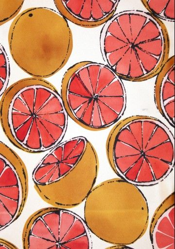 grapefruit. by Luli Sanchez #pattern #patternplay #color #fun #unique #wallpaper #decor