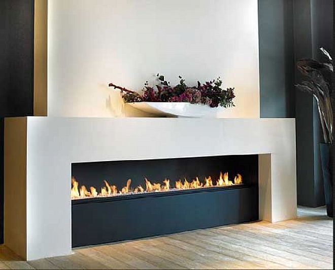 Modern Wall Fireplaces Design Ideas