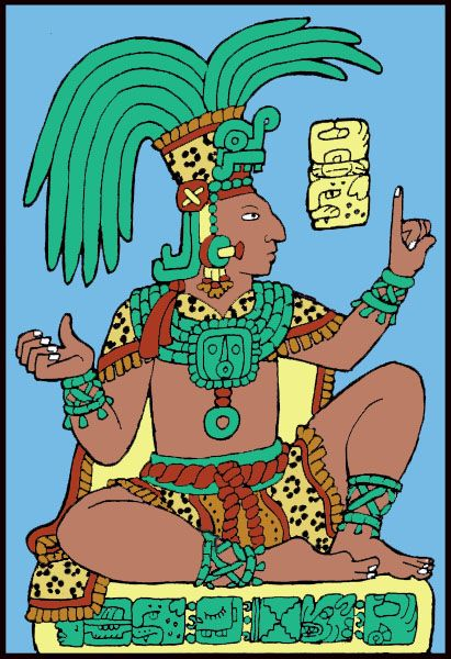 ~ Mayan Art by Sky Jaguar, the painting is called Myan King.