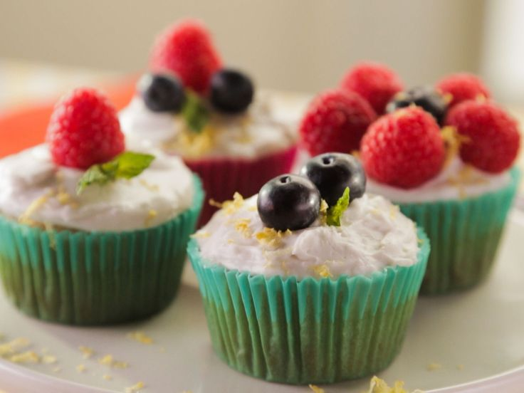 Lemon-Olive Oil Cupcakes with Coconut Whipped Cream recipe from Trisha's Southern Kitchen via Food Network
