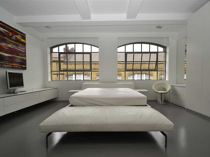 The Factory | Nile Street | N1 | London | Warehouse Conversion | Minimalism | Bedroom | Big Windows | White | Inspirational Design | Loft Living | Warehouse Home Design Magazine