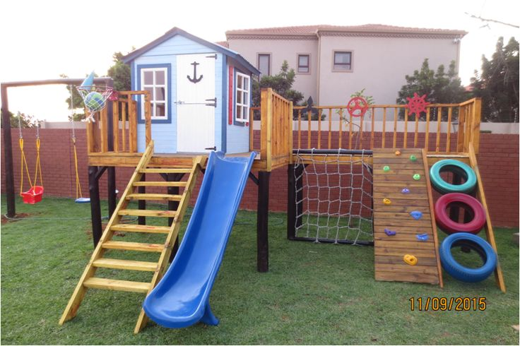 Large Activity Play House by Playground Wizards. Contact: sales@playgroundwizards.co.za