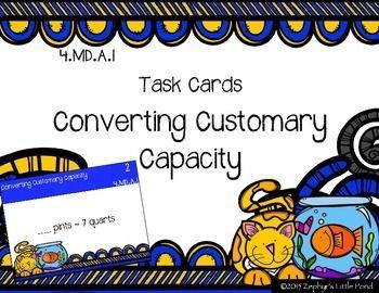 18 best teachers pay teahers images on pinterest school teacher converting customary capacity math task cards fandeluxe Gallery