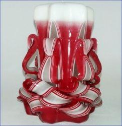 Řezaná svíčka 11 cm - červená