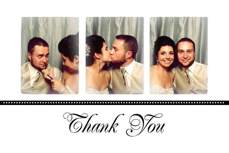 Take any photo strip and choose from multiple templates for your Thank You cards!