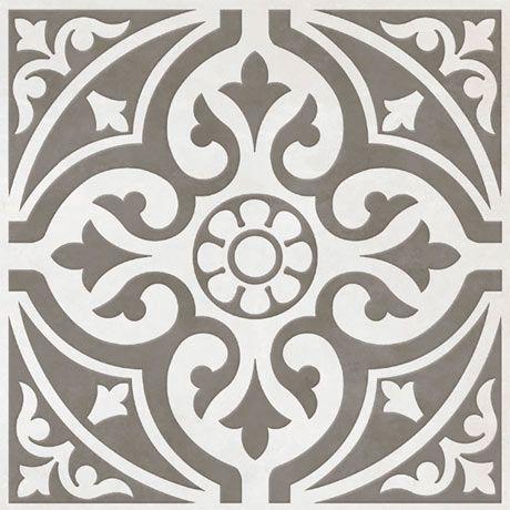 Kingsbridge Grey Patterned Floor Tiles - 331 x 331mm