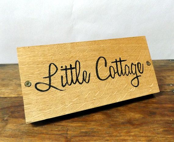 Personalised Front Door Plaque  Handpainted Oak by MakeMemento