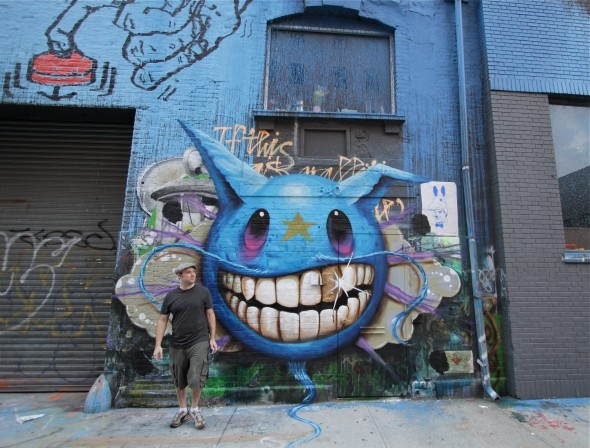 """On the eve of """"Life Cycle,"""" his third solo show at the Jonathan LeVine Gallery, Jeff Soto adds the finishing touches to this incredible mural and reflects on past influences, present themes and future plans."""