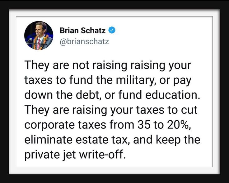 Don the Con! Trumptards gonna pay more taxes so rich backyards won't have to!