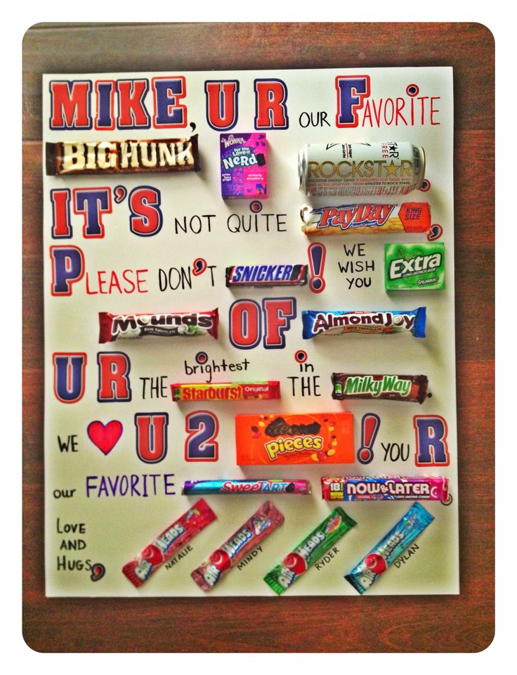 7 Best Candy Letters Images On Pinterest Birthday Favors Birthday