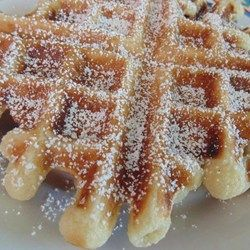 Funnel Cake Waffles #MyAllrecipes #AllrecipesAllstars #AllrecipesFaceless