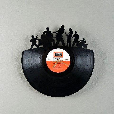 アナログレコード掛け時計 Re Vinyl  Band