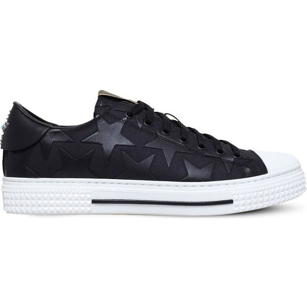 Valentino Camo Star canvas trainers ($810) ❤ liked on Polyvore featuring men's fashion, men's shoes, men's sneakers, mens lace up shoes, valentino mens sneakers, mens camo sneakers, mens camo shoes and valentino mens shoes