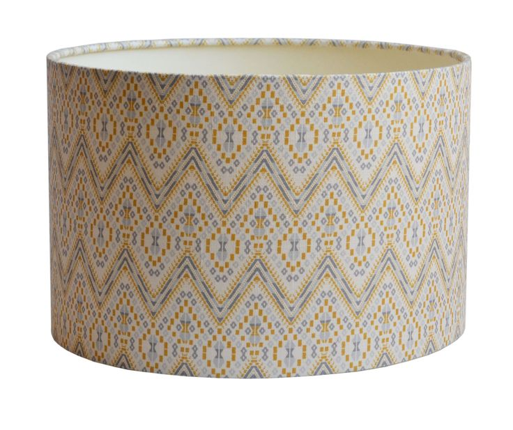 Drum Lampshades from the A Rum Fellow Lampshade Collection, exclusive to Copper & Silk.