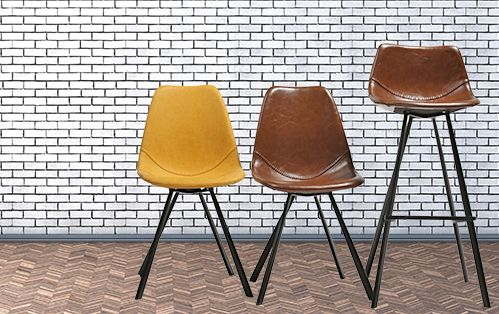PITCH CHAIR & BARSTOOL #bar #decoration #interior #design #style #baseball #yellow