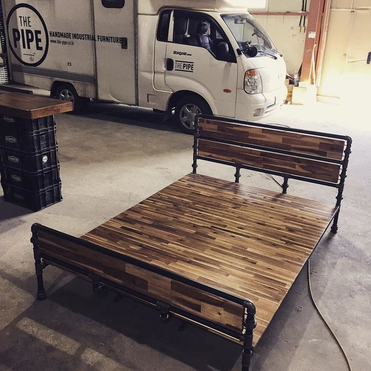 181 best Beds made with Pipe images on Pinterest   Loft ...