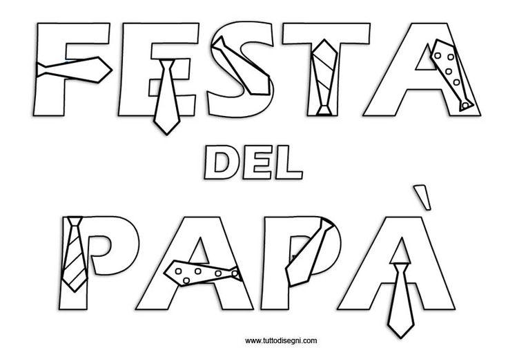 Festa del papà - Cartello per porta aula - TuttoDisegni.com